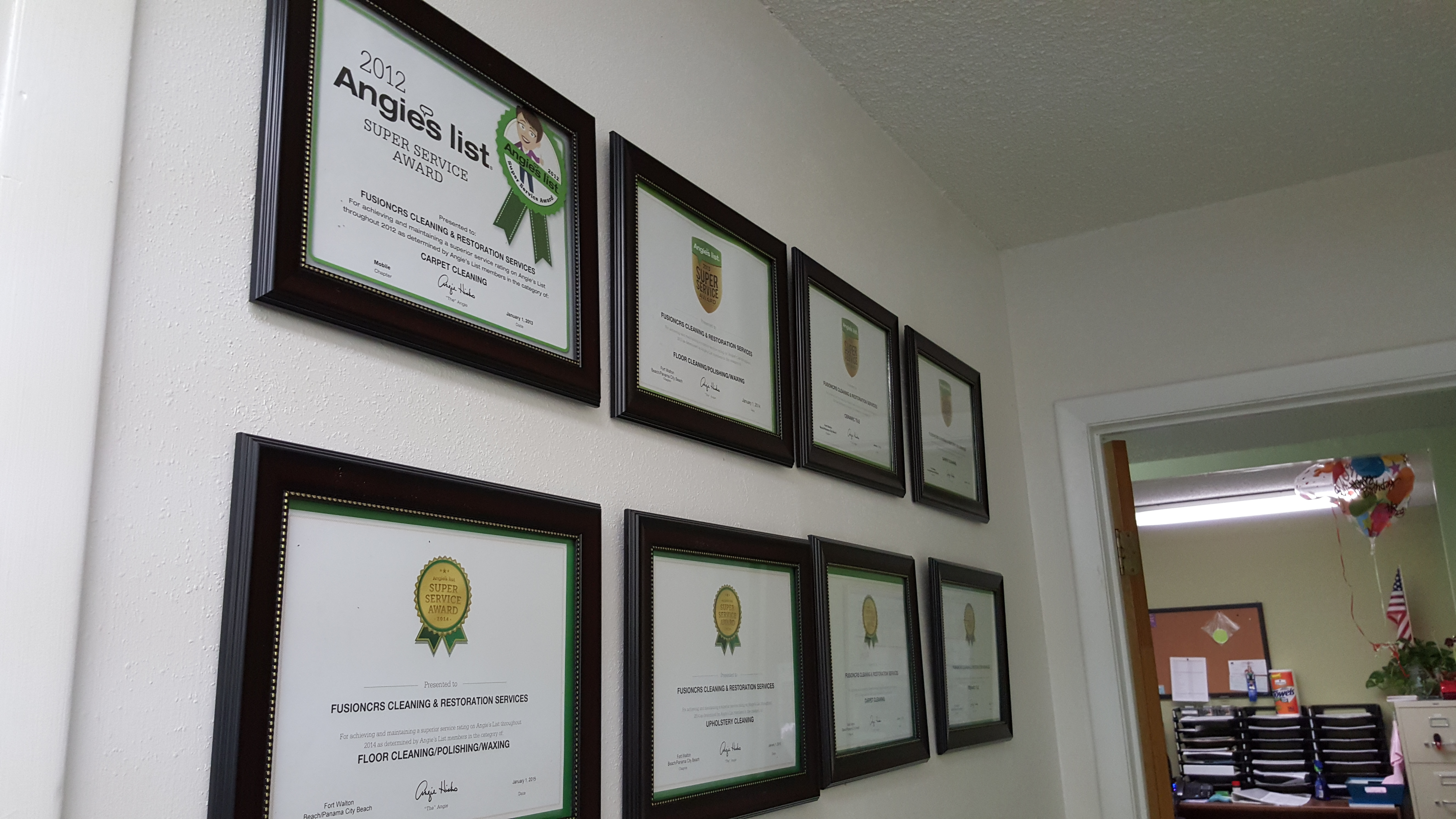Awards from Angie's list