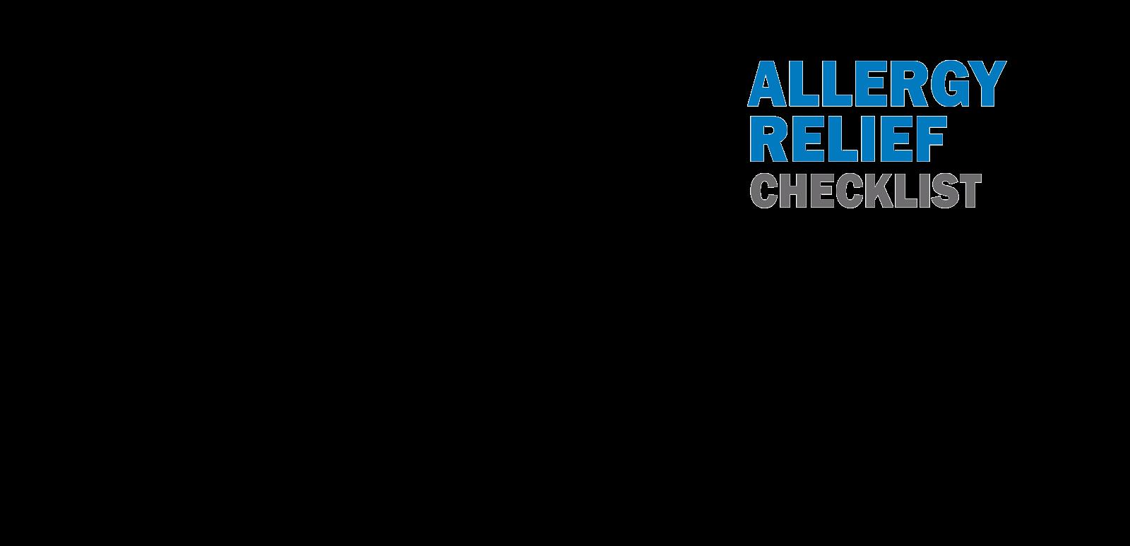 Allergy Relief Checklist