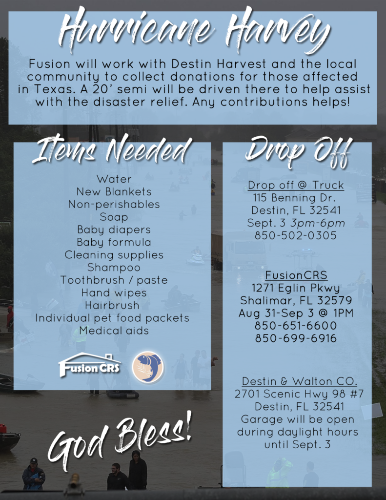 FusionCRS Helps Hurricane Harvey Victims